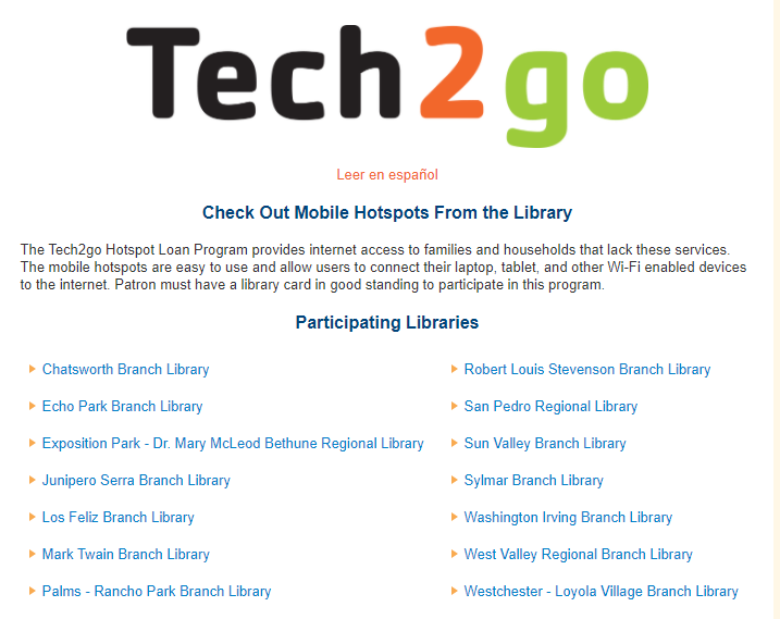Check out a Hotspot from Libraries